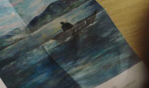 島と湖の話の挿絵