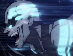 無限列車編第1話のアニメオリジナルの青い鬼